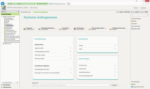 Rechnungsschreibung/Auftragswesen online